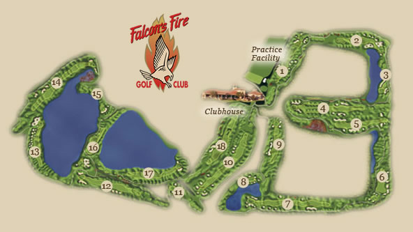 1 Falcons Fire Course Layout